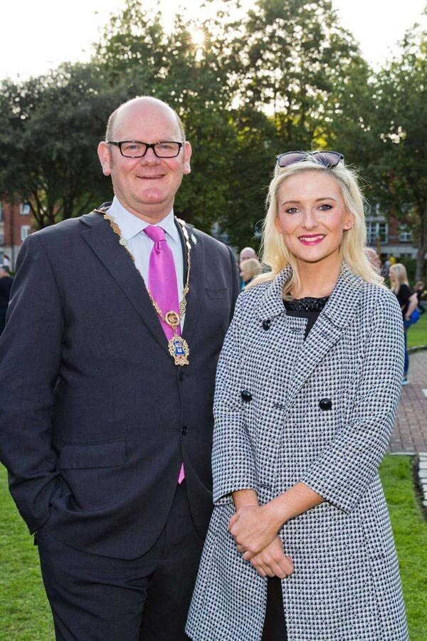Cllr Daithi Doolan and Nikki